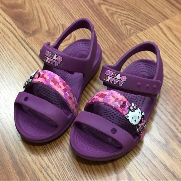 1c12efcc2 CROCS Shoes | Hello Kitty Toddler Sandals | Poshmark